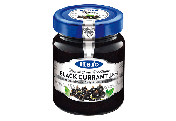 Hero Black currant jam 340g