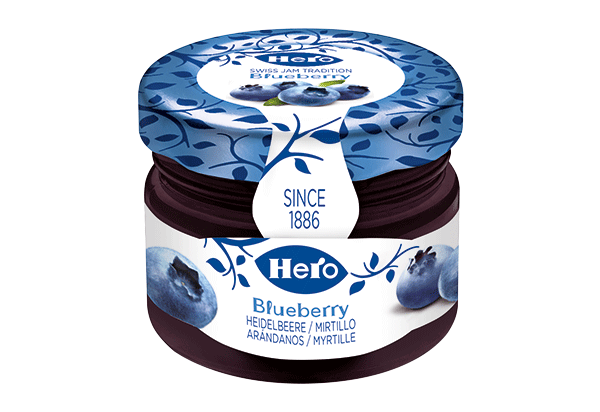 Hero blueberry mini jar