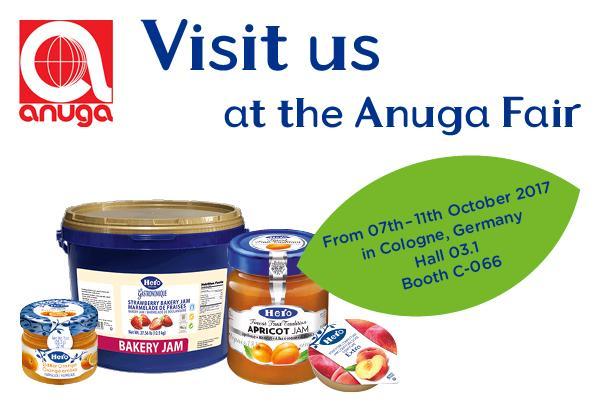 Visit us at the Anuga Fair in Cologne